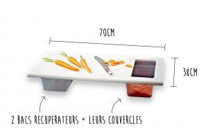 Plan de découpe Ergoplan Matfer pour cuisinier professionnel