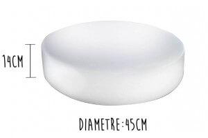Billot de boucher Matfer en PEHD 500 - Diamètre 45cm