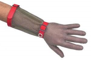 Gant de protection Niroflex avec manchette en cotte de maille inox - Taille M