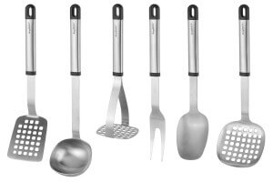 Set de 6 ustensiles de cuisine Berghoff Essentials + 2 supports