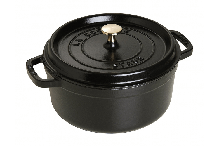 Cocotte ronde en fonte émaillée STAUB noir