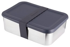 Bento Lunch Box Berghoff Essentials inox + bande extensible silicone