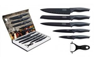 Coffret 5 couteaux Pradel Evolution lames noires + 1 éplucheur
