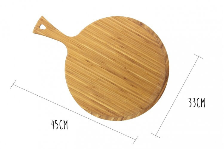 Pelle à pizza Totally Bamboo Greenlite avec poignée 45x33cm
