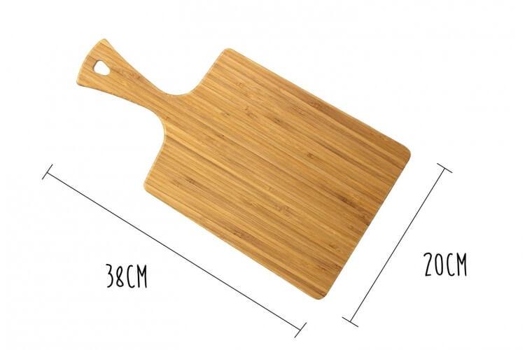 Planche à découper Totally Bamboo Greenlite Bistrot avec poignée