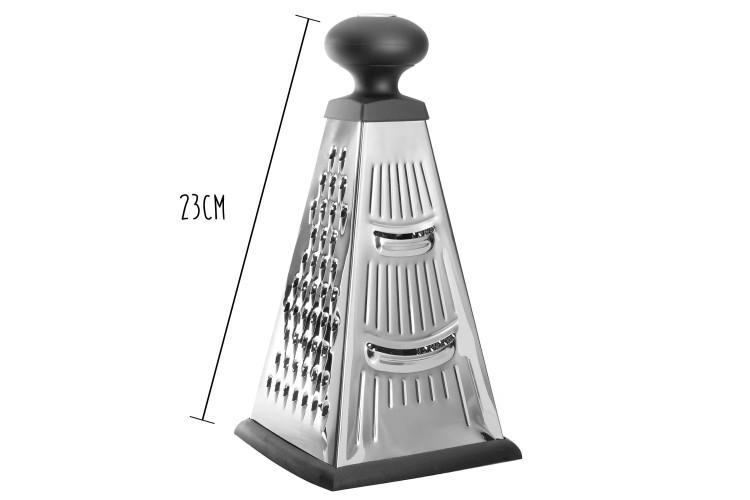 Râpe pyramide 4 faces Berghoff Essentials acier inox + poignée