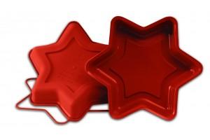 Moule professionnel en silicone Uniflex étoile 6 branches Ø26cm h 4cm