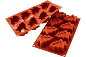 Moule en silicone professionnel Silikomart Silicon Flex 8 sapins 300 x 175mm