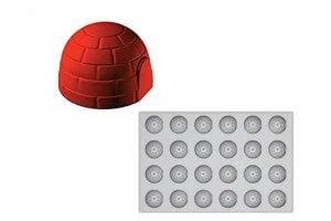 Moule premium en silicone 24 empreintes Igloo 600 x 400 mm
