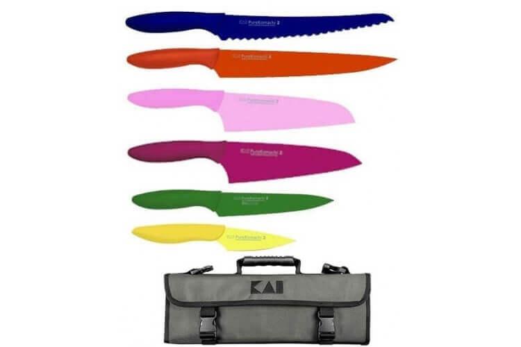 Malette avec 6 couteaux KAI PureKomachi 2
