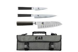 Mallette Kai Shun Classic 3 couteaux japonais damassés