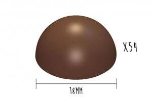 Plaque rigide moules à chocolat demi-sphère