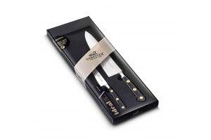 Coffret couteaux SABATIER Idéal Laiton Office 10cm + Chef 20cm