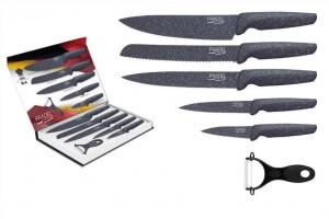 Coffret 5 couteaux Pradel Evolution revêtement façon pierre grise + éplucheur