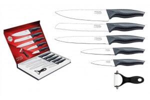 Coffret 5 couteaux Pradel Evolution lame revêtement blanc + éplucheur
