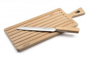 Set Sabatier International planche à pain en hêtre + 1 couteau à pain 20cm