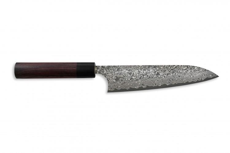 Couteau de chef japonais artisanal Yoshimi Kato 18cm VG10 Nickel Damascus