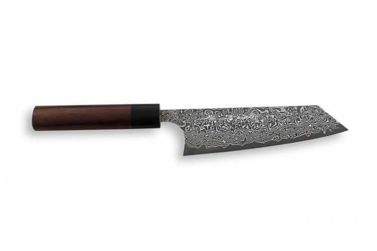 Couteau bunka japonais artisanal Yoshimi Kato 16.5cm VG10 Nickel Damascus