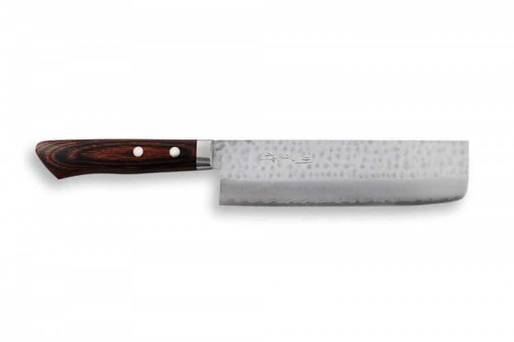 Couteau nakiri japonais artisanal Masutani 16.5cm martelé