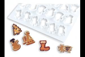 Plaque de découpoirs à biscuits spécial Noël 390x570mm