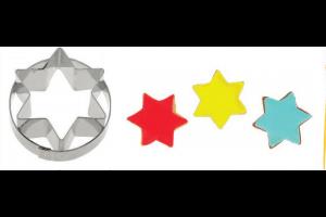 Découpoir étoile à 6 branches Mallard acier inox 4.7cm