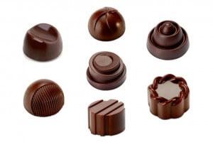 Moule à chocolats ronds 21 pièces de 10g
