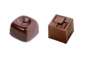 Moule à chocolats carrés 21 pièces de 10g