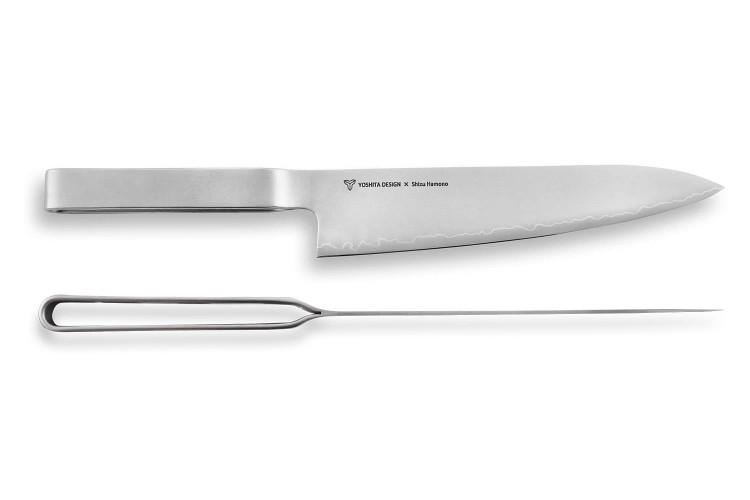 Couteau de chef japonais Shizu Hamono Round Bar 21cm