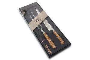 Coffret couteau SABATIER Provençao tranchelard 20cm + fourchette à viande