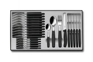 Ménagère 24 pièces Victorinox Swissclassic acier inox 18/10 couteaux bout pointu