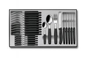 Ménagère 24 pièces Victorinox Swissclassic acier inox 18/10 couteaux bout rond