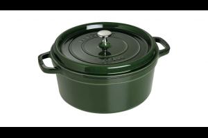 Cocotte ronde en fonte émaillée STAUB vert basilic