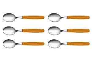 Boite de 6 cuillères à soupe Victorinox SwissClassic manches oranges