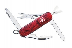 Couteau suisse Victorinox Midnite Manager rouge translucide 58mm 10 fonctions