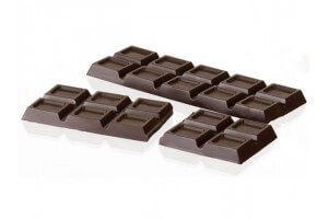 Moule pour 2 tablettes de chocolat en polycarbonate 275 x 205mm