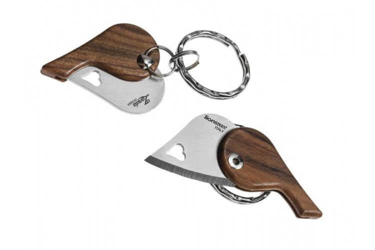 Couteau pliant porte-clés coeur LionSteel LionBeat 4.5cm
