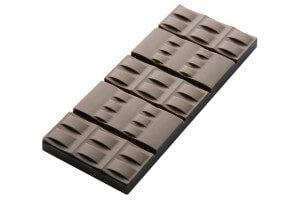 Moule pour 6 tablettes de chocolat 50g en polycarbonate 120 x 53mm