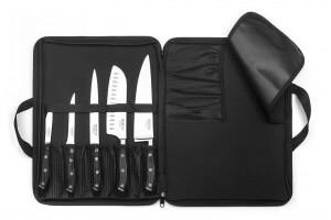 Mallette extra plate 5 couteaux de cuisine Sabatier Trompette Vulcano