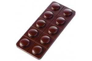 Moule pour 5 mini-tablettes de chocolat 26g Capsulo en PC 105 x 45mm