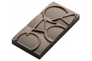 Moule pour 12 mini-tablettes de chocolat 20g cacao en PC 76 x 35mm