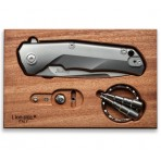 Couteau pliant LionSteel Tre manche 10cm + coffret bois