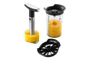 Coupe-ananas + trancheur + gobelet Gefu Professional Plus