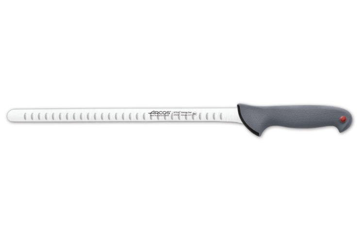Couteau à saumon professionnel Arcos Colour Prof flexible alvéolé 30cm