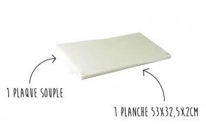 1 planche à découper professionnelle 53x32x2cm + 1 plaque flexible