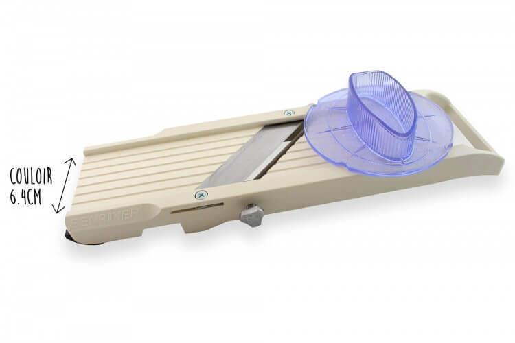 Mandoline japonaise professionnelle Benriner 3 lames petit modèle + poussoir extra large