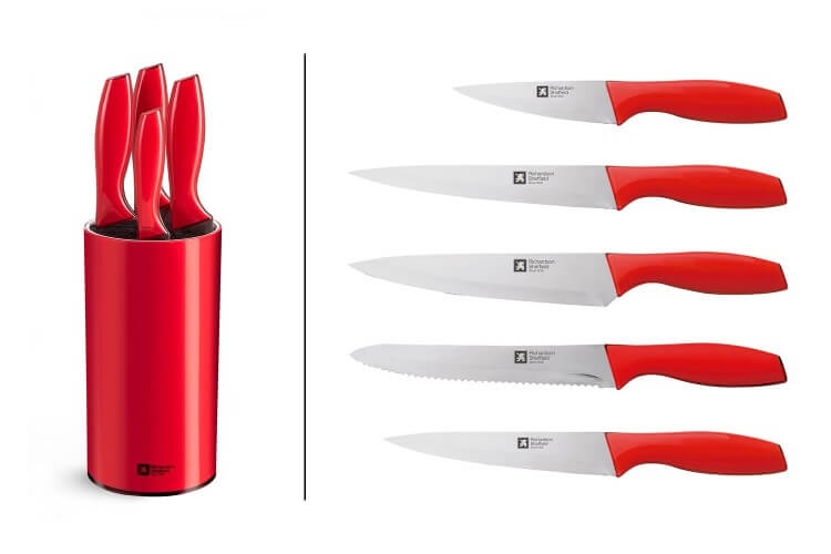 Bloc 5 couteaux de cuisine Richardson Pop