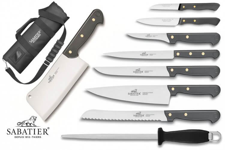 Mallette Sabatier Cuisine d'aujourd'hui 8 couteaux fabrication française + 1 fusil