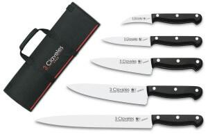 Mallette du cuisinier 5 couteaux professionnels 3 Claveles Uniblock