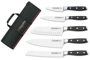 Mallette du cuisinier 5 couteaux forgés professionnels 3 Claveles Toledo