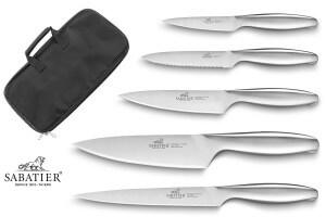 Mallette de 5 couteaux Sabatier Fuso Nitro+ fabrication française